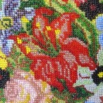 Pillow Beaded Needlepoint P1100501