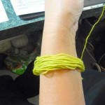 Step 4: lime yarn for step 4