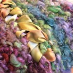 Handspun Caplet Close w Ribbon