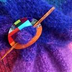 Spectrum Shawl w Inlayed Straight Shawl Pin 2