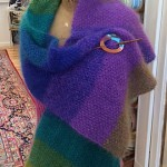 Spectrum Shawl w Inlayed Straight Shawl Pin 5